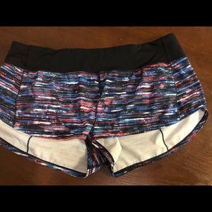 Lululemon speed shorts size 10